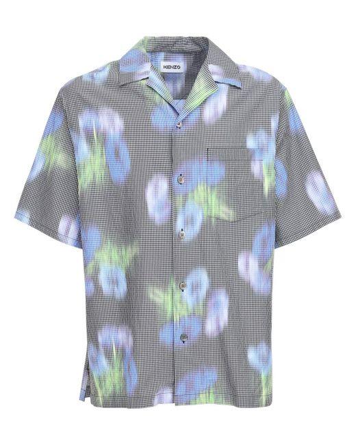 メンズ KENZO Cocquelicot ボウリングシャツ Green