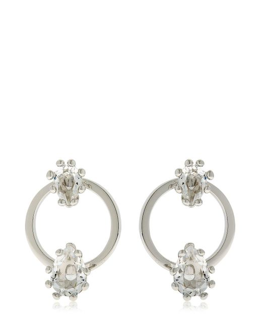 DSquared² | Metallic Jeweled Hoop Earrings | Lyst