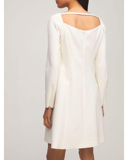 Платье Из Двойной Шерсти Carolina Herrera, цвет: White