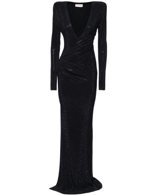 Платье Из Джерси Со Стразами Alexandre Vauthier, цвет: Black