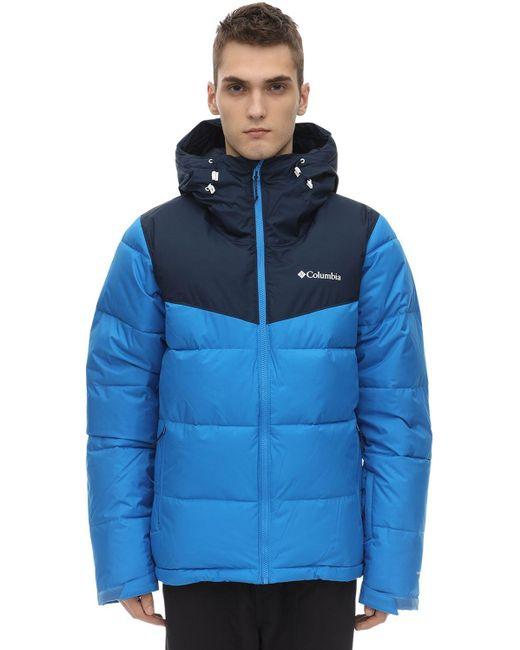 Куртка Из Нейлона Columbia для него, цвет: Blue