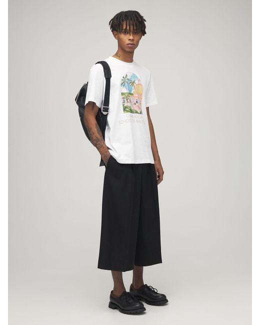 メンズ CASABLANCA School Of Beautiful ジャージーtシャツ White