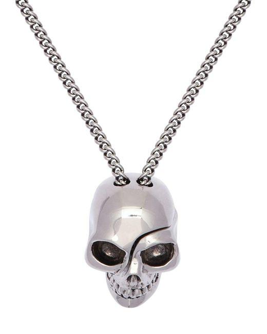メンズ Alexander McQueen スカルチャームネックレス Metallic