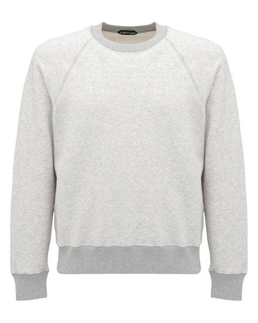 Толстовка С Логотипом Tom Ford для него, цвет: Gray