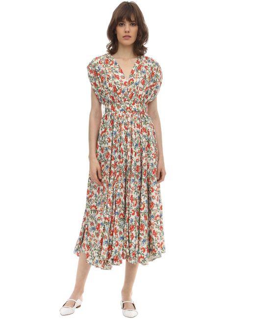 Emilia Wickstead シルク&ウールミディドレス Multicolor