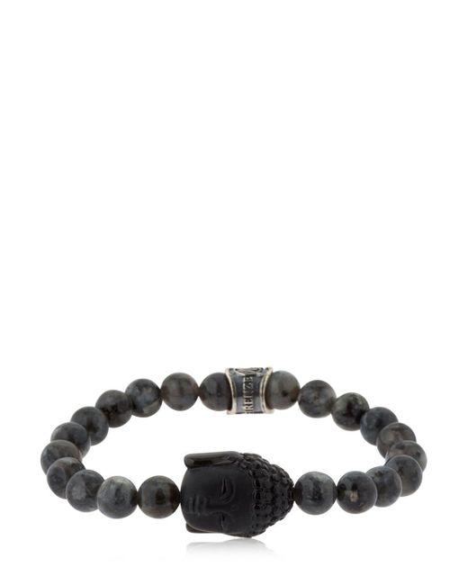 Cantini Mc Firenze - Black Buddha Labradorite Beaded Bracelet - Lyst