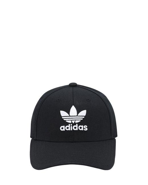 Adidas Originals Classic Trefoil コットンキャップ Black
