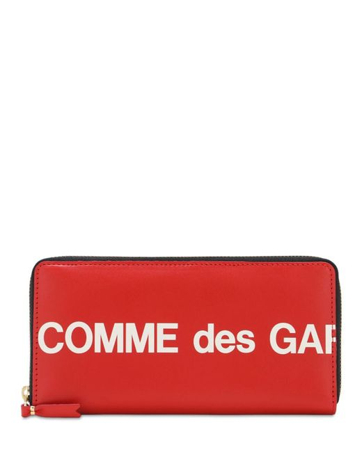 Кожаный Кошелёк С Принтом Логотипа Comme des Garçons для него, цвет: Red