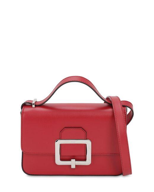 Bally Red Janelle Leather Shoulder Bag