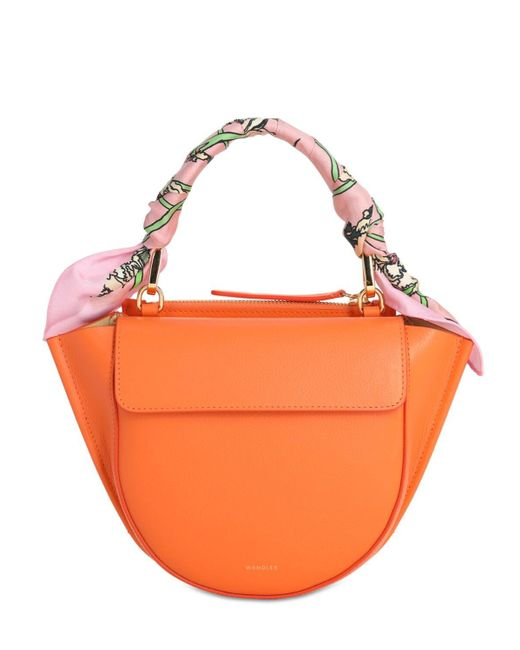 Wandler Hortensia ミニ スムースレザーバッグ Orange