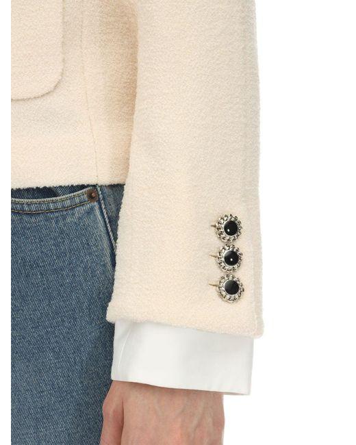 Alessandra Rich ツイード ラッカーボタンジャケット White