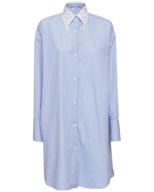 Ermanno Scervino コットンシャツドレス Blue