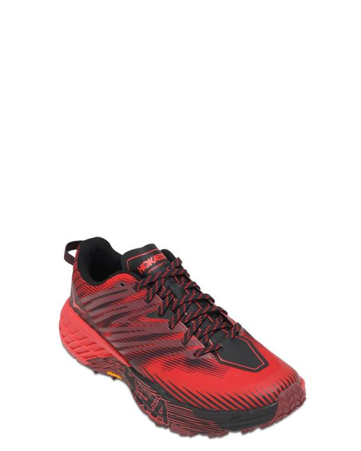 メンズ Hoka One One Speedgoat 4 Trail Running スニーカー Red