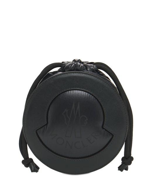 Moncler Groupie レザー&ナイロンバッグ Black