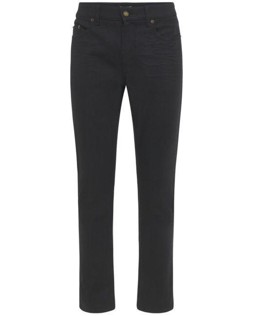 メンズ Saint Laurent スキニーストレッチコットンジーンズ 16cm Black