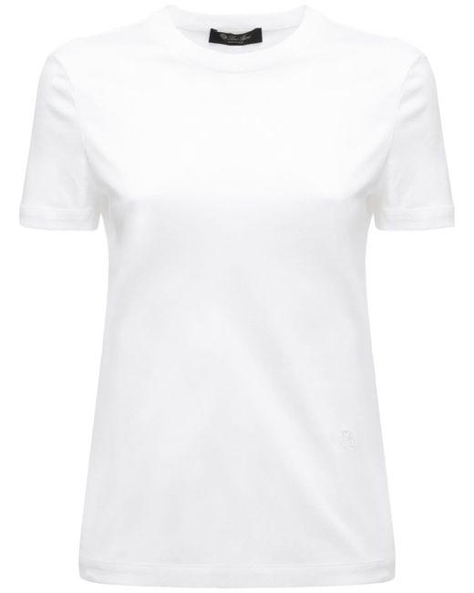 Loro Piana コットンジャージーtシャツ White
