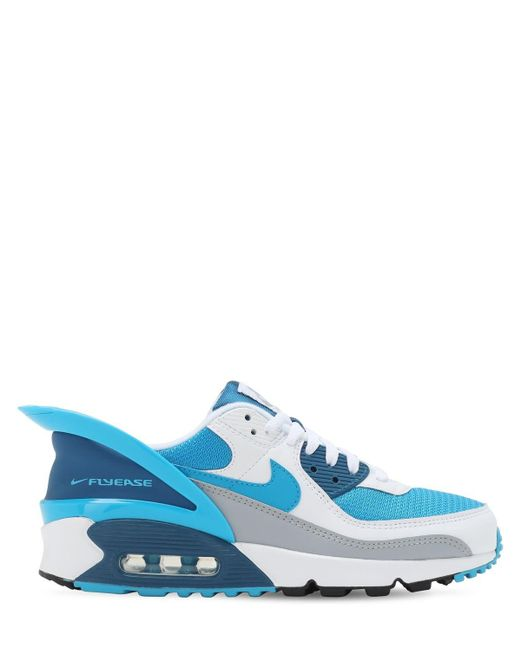 Nike Lace Air Max 90 Flyease in White/Blue (Blue) for Men - Save ...