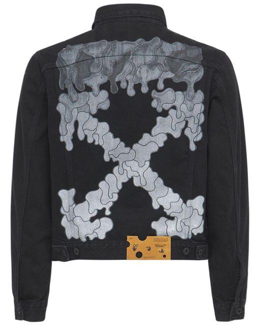Куртка Из Хлопкового Деним Off-White c/o Virgil Abloh для него, цвет: Black