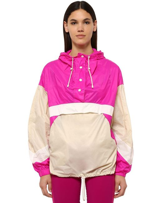 Étoile Isabel Marant Kizzy ナイロントラックジャケット Pink