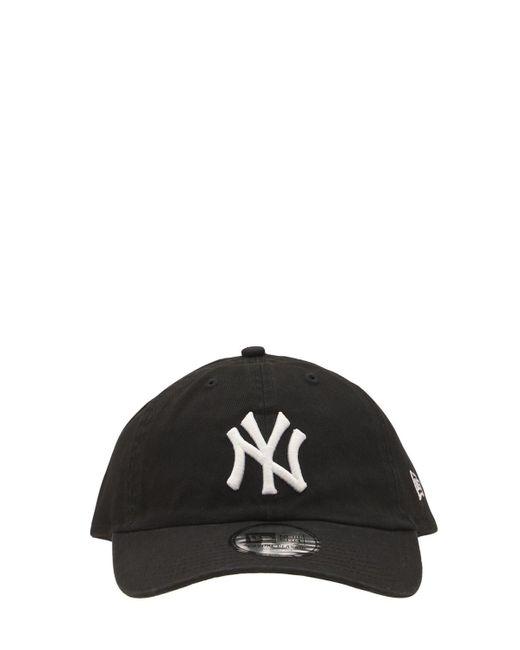 KTZ Black Washed Ny Yankees 9twenty Baseball Hat for men