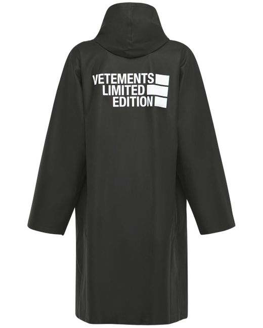 Vetements Big Logo Limited Edition レインコート Black