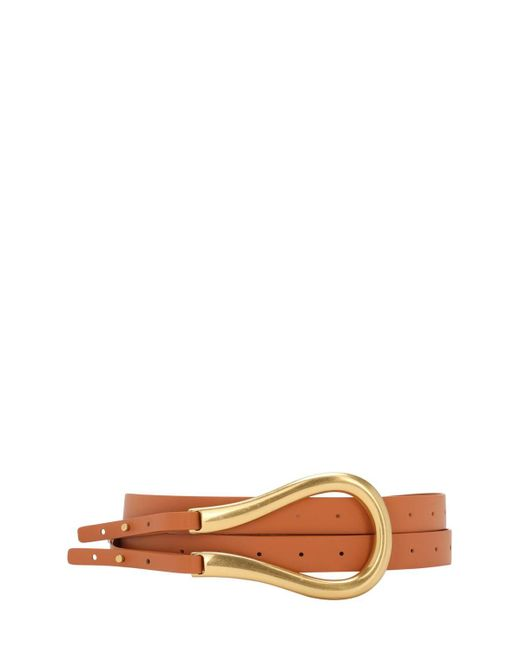Кожаный Ремень 7cm Bottega Veneta, цвет: Brown