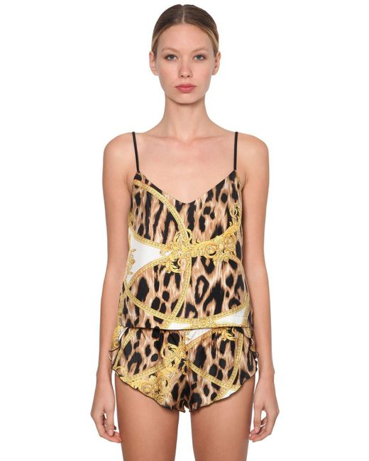 Versace Multicolor Printed Pajama Tank Top
