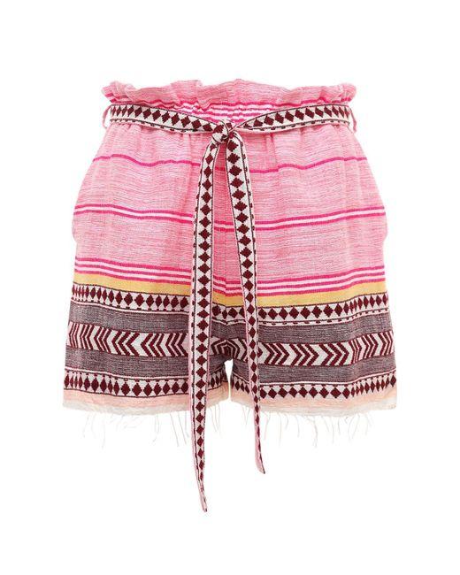 Lemlem Neela コットンブレンドショートパンツ Pink