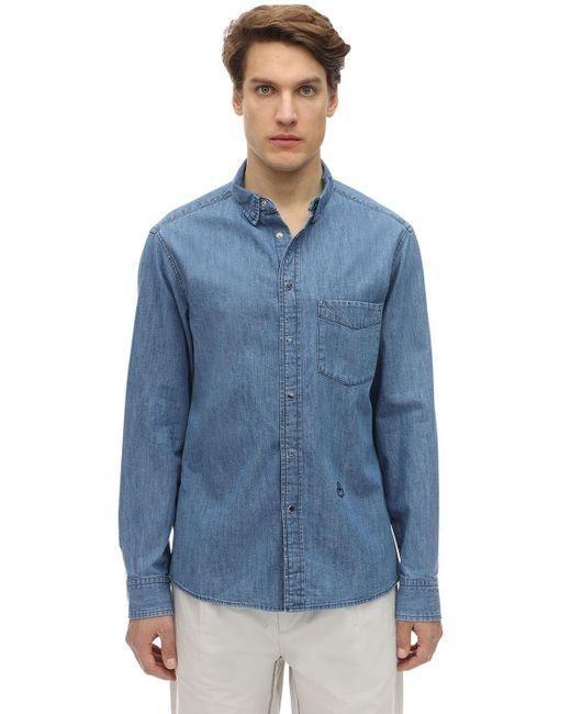 メンズ Isabel Marant コットンオックスフォードシャツ Blue
