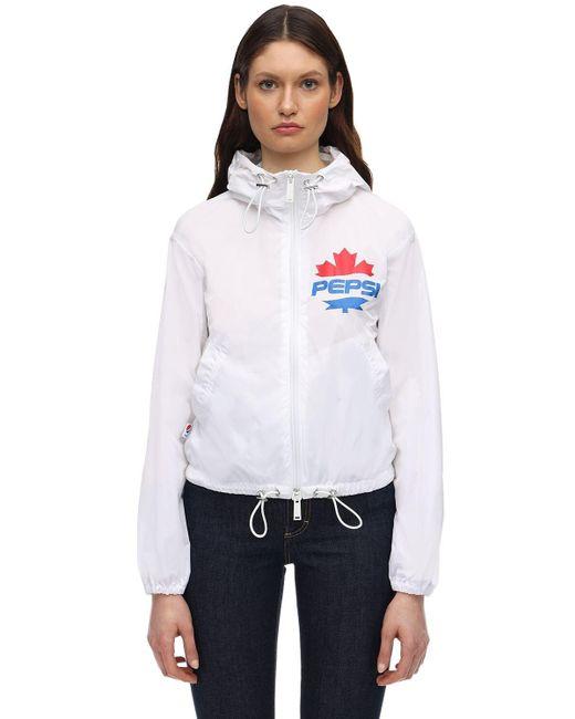 DSquared² Pepsi テックウインドブレーカー White