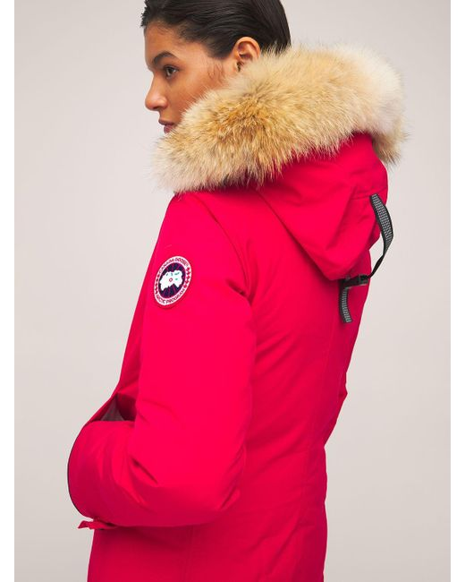 Canada Goose Sherbrooke ダウンパーカ Red