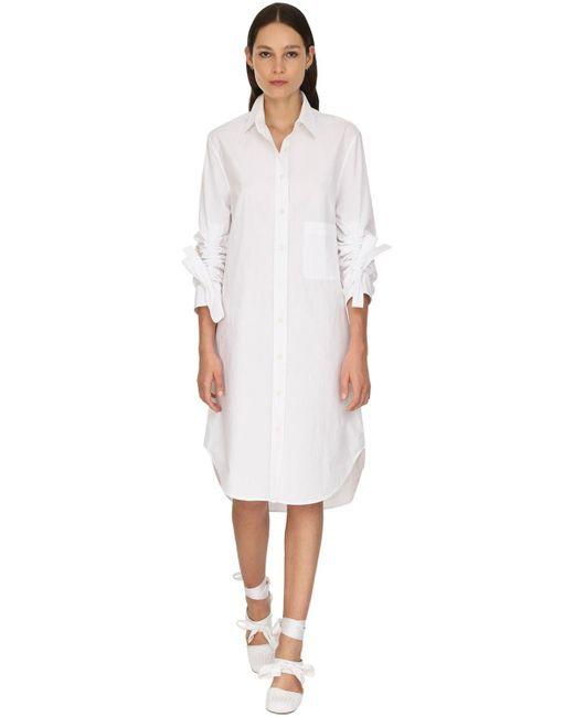 J.W. Anderson オーバーサイズポプリンシャツドレス White