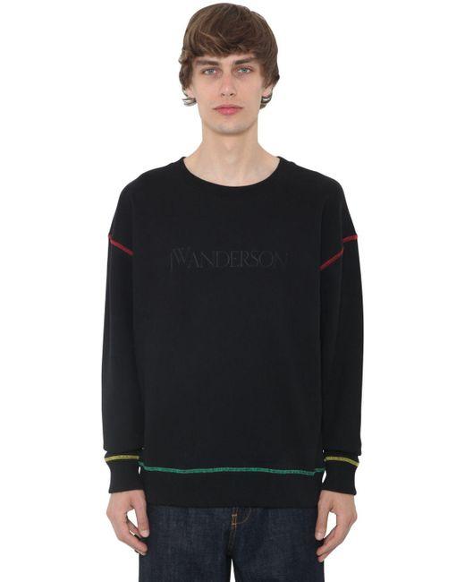 メンズ J.W. Anderson コットンジャージースウェットシャツ Black