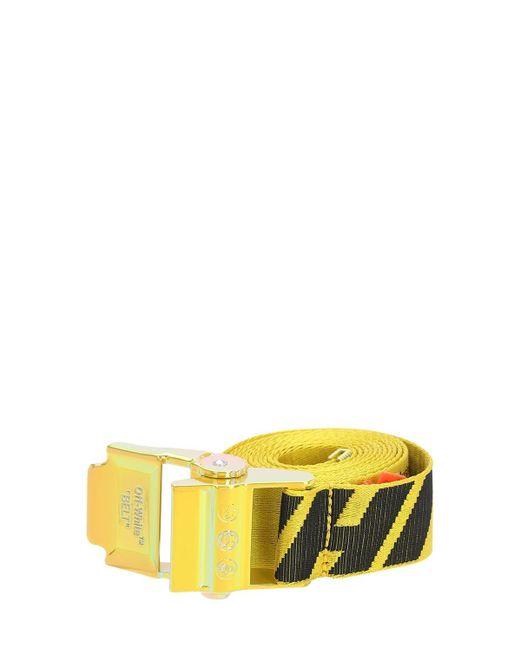 Ремень С Двойным Логотипом 40 Мм 2.0 Off-White c/o Virgil Abloh для него, цвет: Yellow