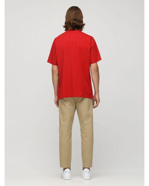 メンズ DSquared² Ovo Causule ジャージーtシャツ Red