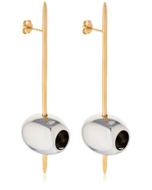 Schield Metallic Olive Earrings