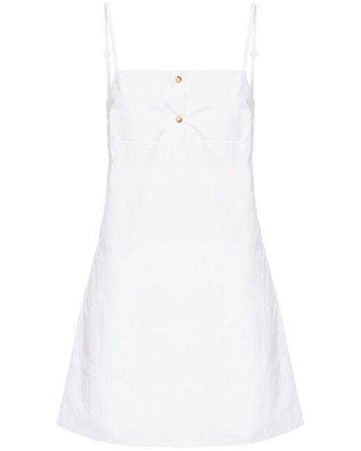 Ciao Lucia Garda ウォッシュドコットンミニドレス White