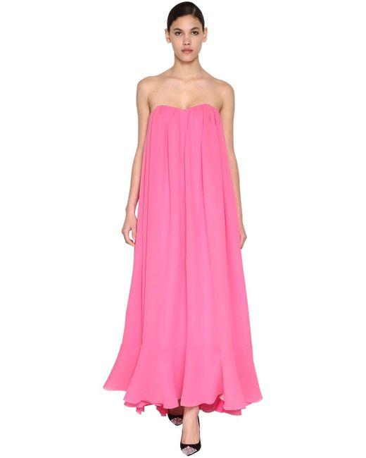 Delpozo シルクジョーゼットドレス Pink