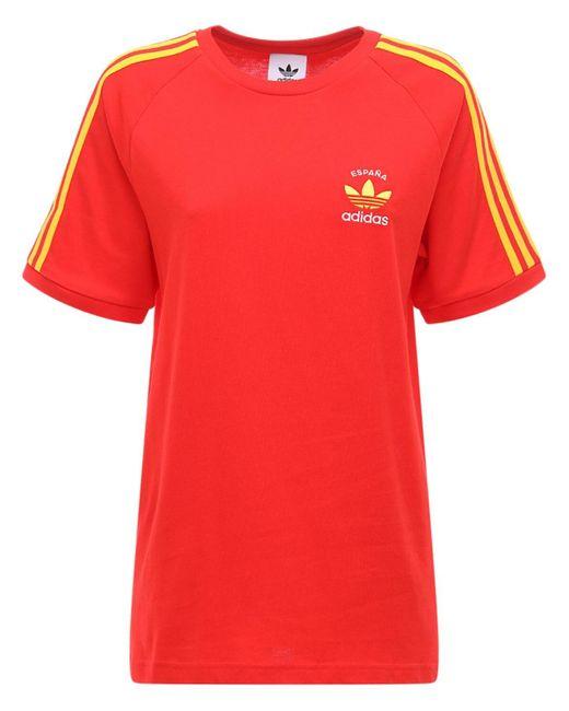 Adidas Originals 3-stripes Spain Tシャツ Red
