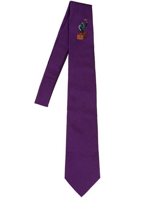 Etro - Purple Corbata De Seda Estampada 8cm for Men - Lyst