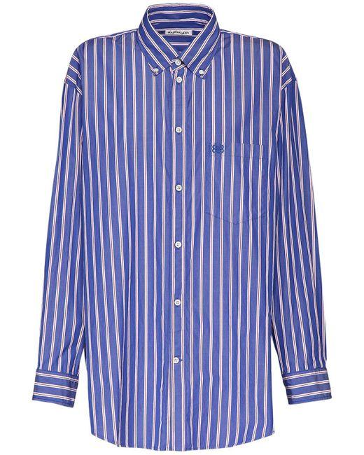 Balenciaga オーバーサイズポプリンシャツ Blue