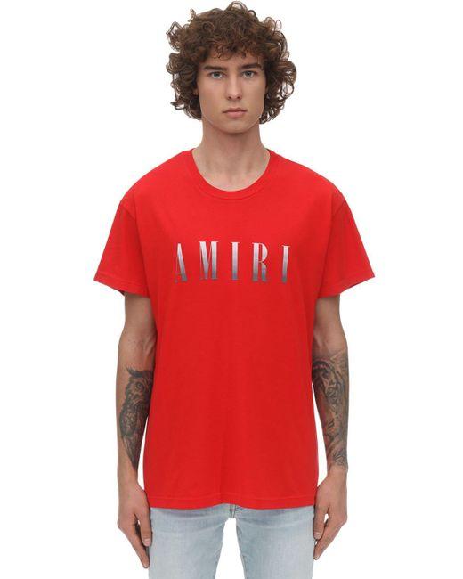 メンズ Amiri コットンジャージーtシャツ Red