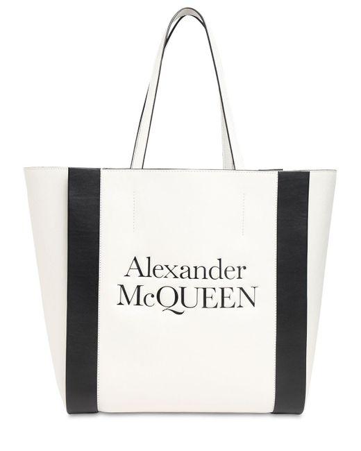 Alexander McQueen レザートートバッグ White