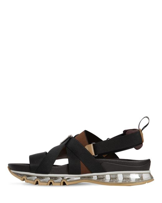 5e3ca6799ae5 Lyst - Fendi Ff Buckle Sandals in Black for Men - Save 49%