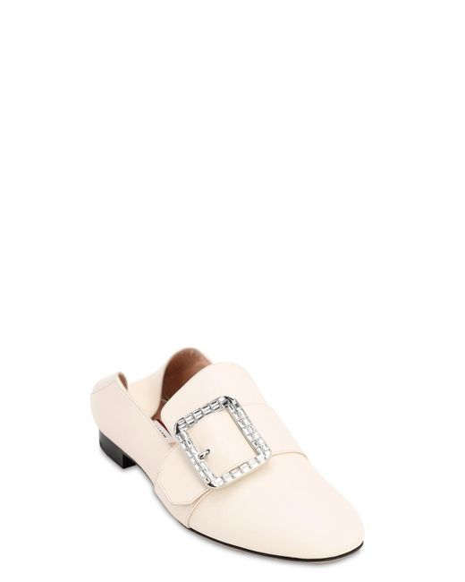Bally Janelle レザーローファー 10mm White