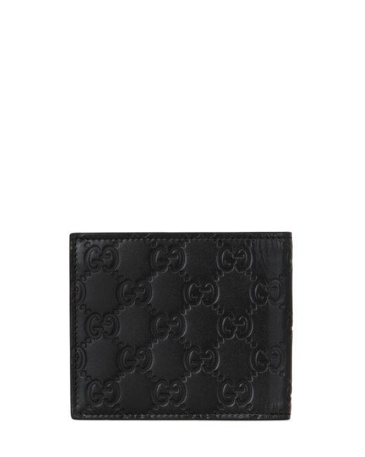 Gg Кожаный Кошелёк С Тиснением Gucci для него, цвет: Black