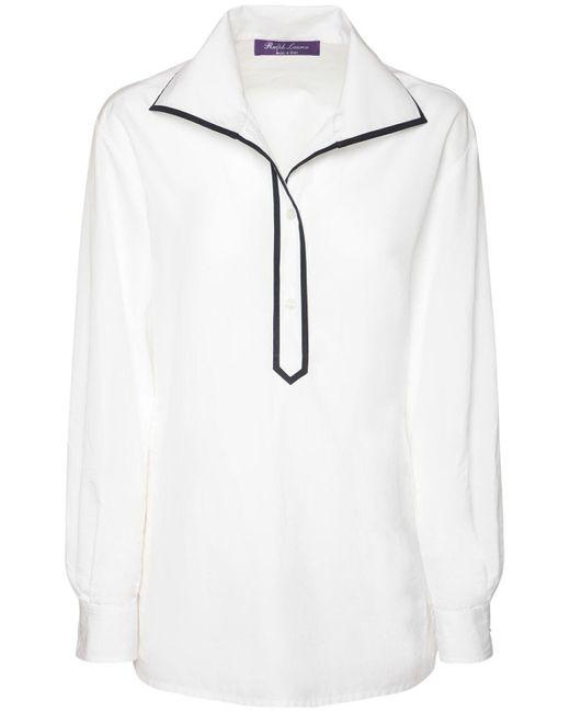 Ralph Lauren Collection Glendale コットンポプリンシャツ White