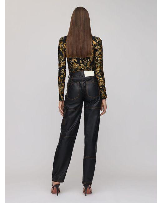 Versace Jeans ストレッチジャージーボディスーツ Black