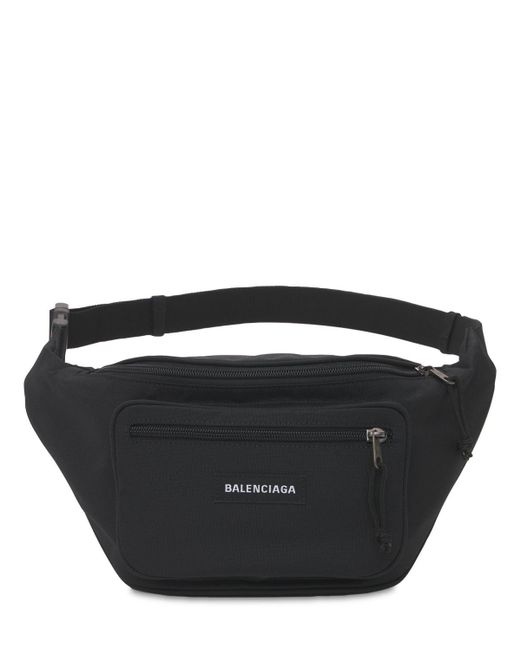 メンズ Balenciaga ナイロンベルトバッグ Black