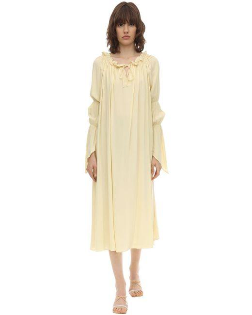 Euthria Ruffled Crepe Midi Dress Aeryne, цвет: Multicolor